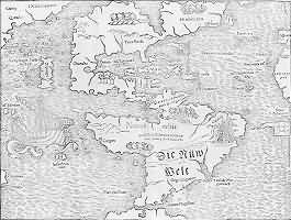 Map of The False Sea of Verrazano.
